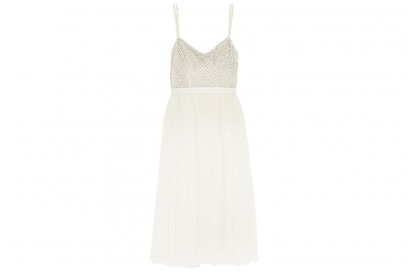 NEEDLE & THREAD Coppelia embellished gauze and tulle midi dress_NET