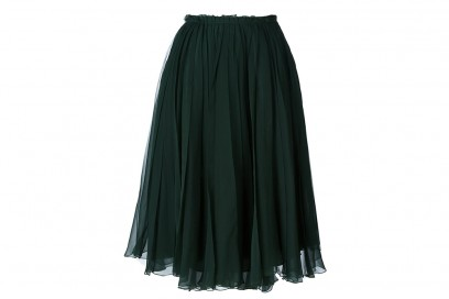 ROCHAS  tulle pleated skirt_FF