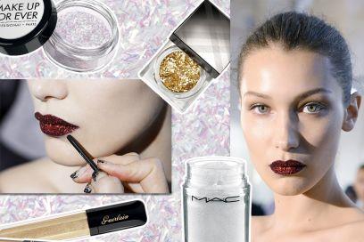 Make up glitter: il trucco scintillante su occhi, labbra e unghie
