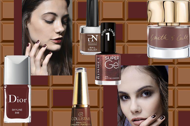 Smalto marrone cioccolato: per una manicure golosa