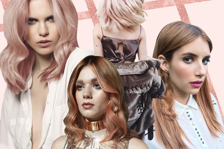 Rose Gold: la nuova tendenza colore capelli