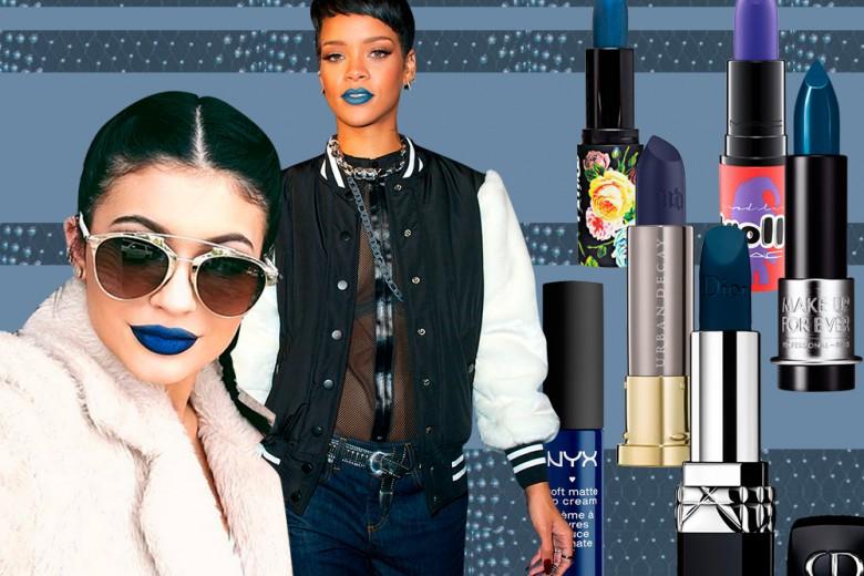 Rossetto blu: il trend labbra che piace alle star e spopola sulle passerelle