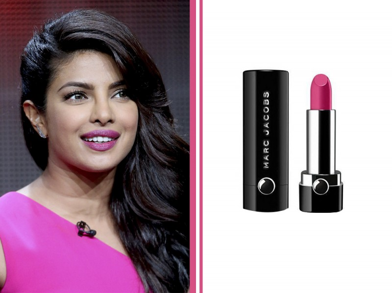 rossetto-fucsia-star-Priyanka-Chopra-Hot-pink-marc-jacobs-le-marc-lip-creme-clara