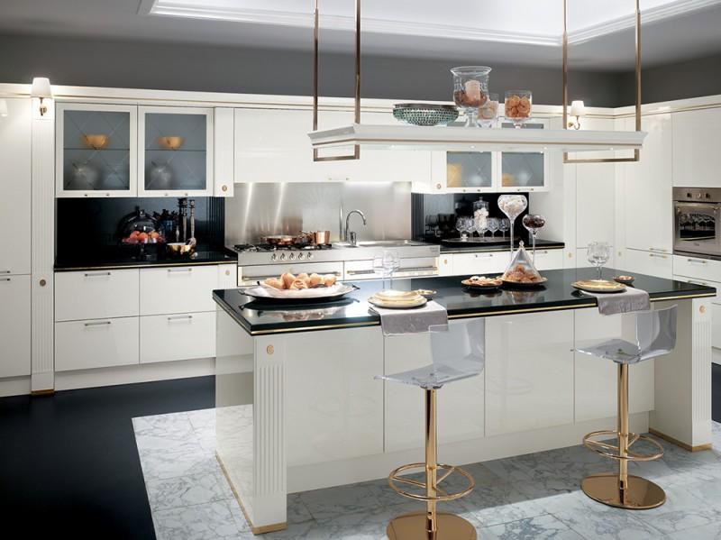 Cucine Classiche Bianche Legno. Cucina Country Bianca Con Sportelli ...