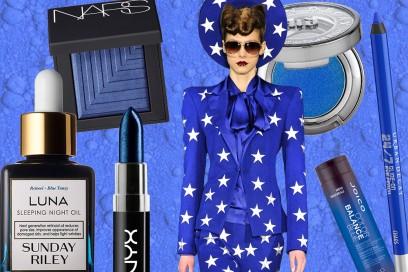 Trucco blu elettrico: prodotti beauty e make up must have