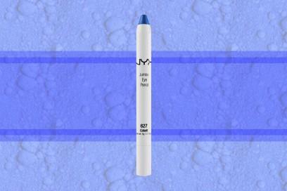 trucco blu elettrico matitone ombretto nyx cosmetics