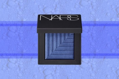 trucco blu elettrico ombretto nars cosmetics