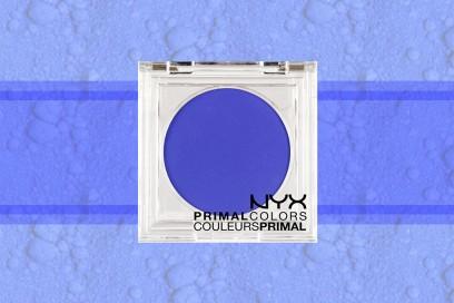 trucco blu elettrico ombretto nyx