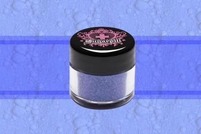 trucco blu elettrico pigmento glitter sugar pill