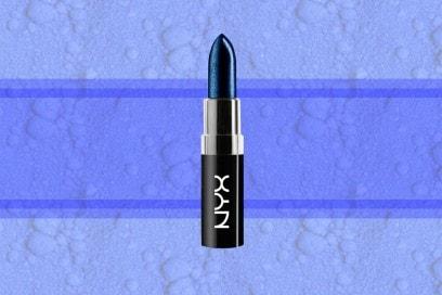 trucco blu elettrico rossetto nyx cosmetics