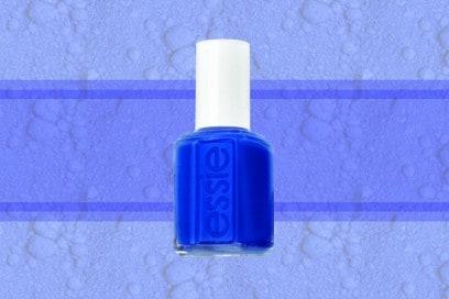 trucco blu elettrico smalto essie