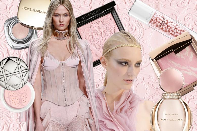 Trucco rosa cipria: prodotti di bellezza romantici