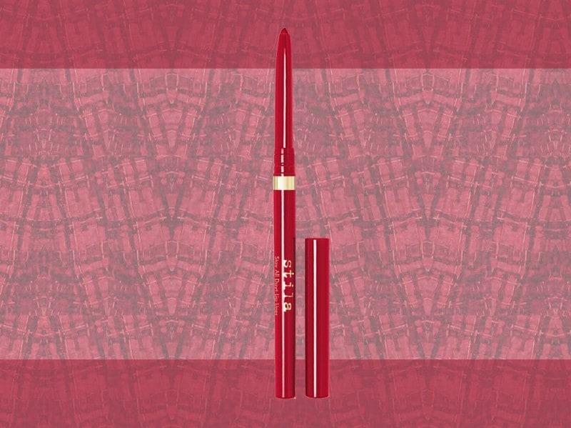 trucco rosso matita labbra rossa stila