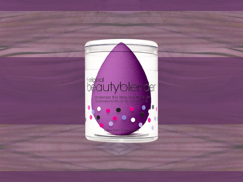 trucco viola beauty blender