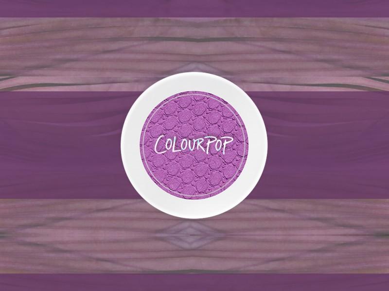 trucco viola blush colour pop