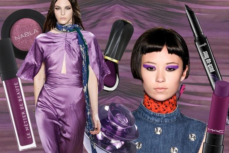 Trucco viola: i prodotti di bellezza must have