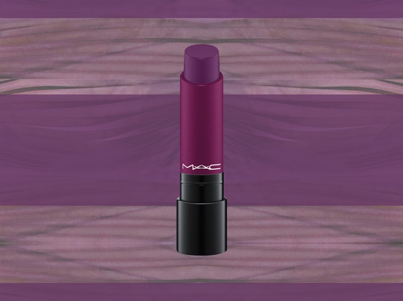trucco viola rossetto mac liptensity hellbore