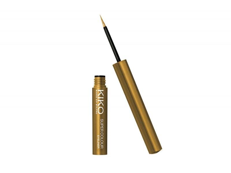 10 trucchi per le feste eyeliner glitter oro kiko