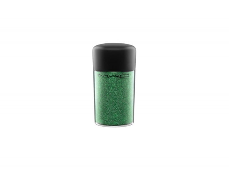 10 trucchi per le feste glitter verde smeraldo mac
