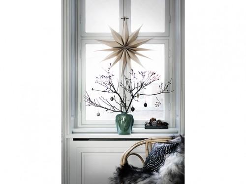 Decorazione Finestre Per Natale : 6 natale minimal chic come decorare la casa ramo spoglio decorazione