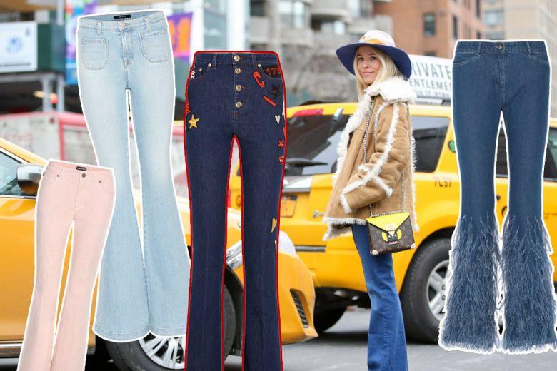 Jeans flared: le versioni più belle dell'inverno 2016