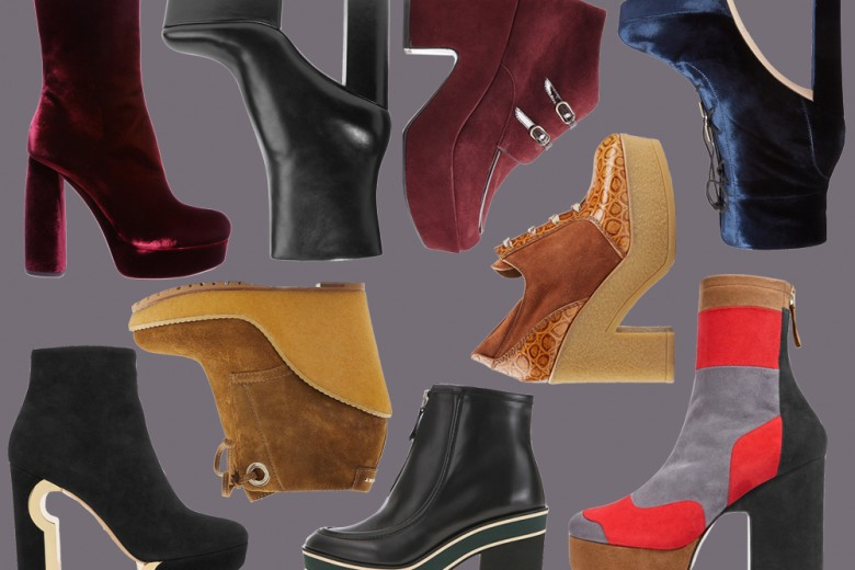 Gli stivali platform per l'inverno 2016
