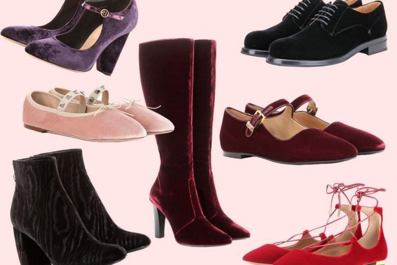 Le scarpe per l'inverno 2016 sono in velluto