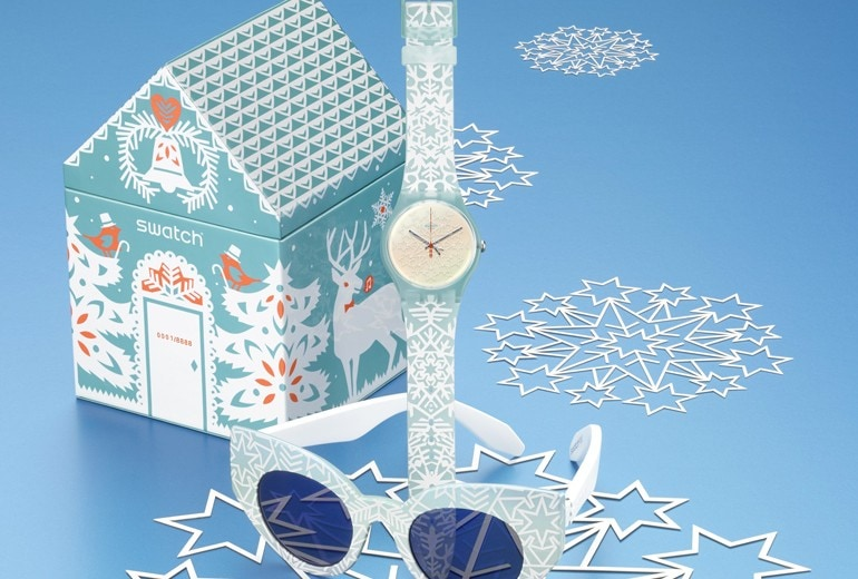Swatch presenta il nuovo orologio natalizio