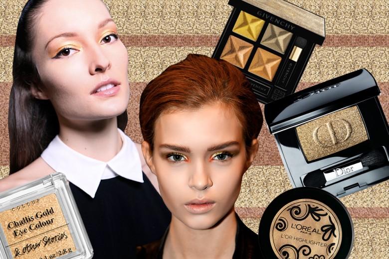 Trucco oro per illuminare il make up delle Feste