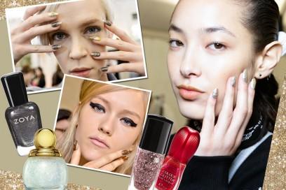 Unghie glitter per una manicure scintillante
