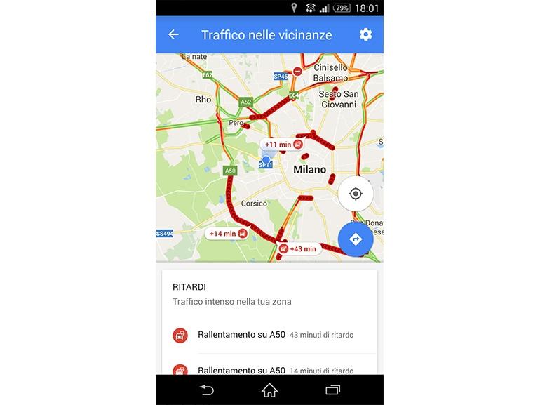 traffico vicinanze google maps