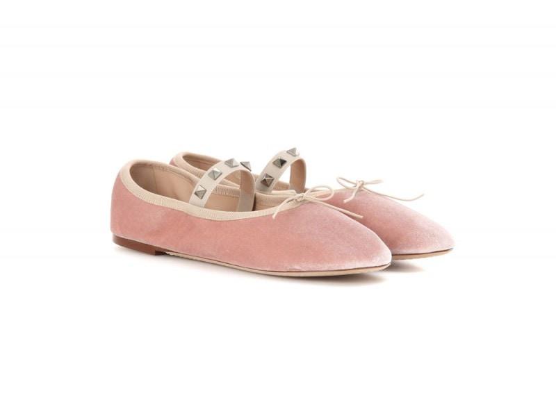 valentino-ballerine-velluto-rosa