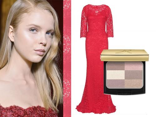 246992e5b2b7 Un lungo abito rosso in pizzo che segue la silhouette rappresenta il  massimo dell eleganza. Per questo lasciate che il make up sia essenziale e  delicato con ...