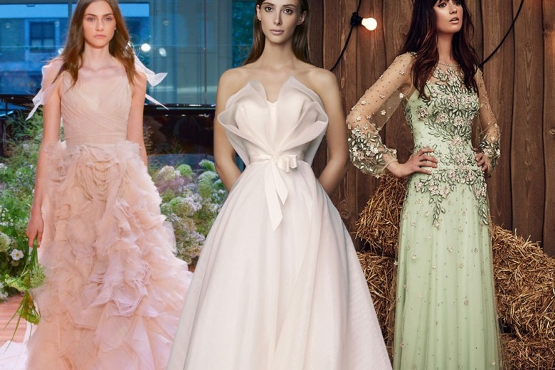 Abiti da sposa: i colori per il 2017