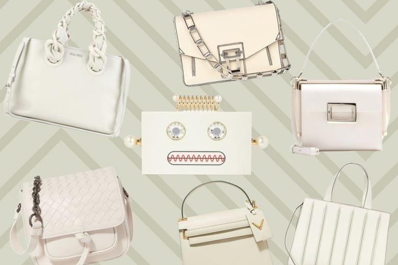 Le borse dell'inverno sono bianche