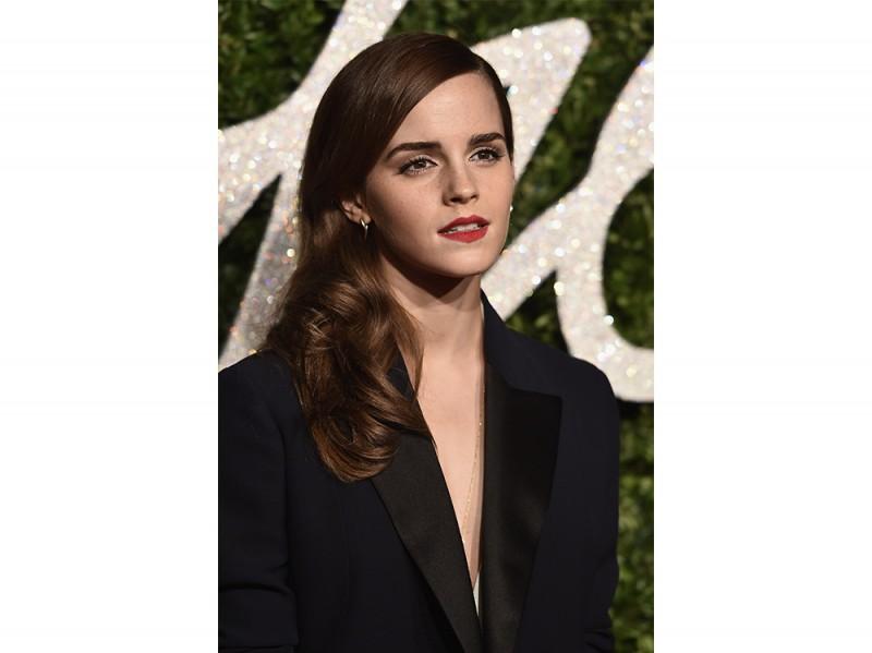 Emma Watson acconciatura laterale