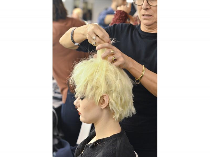 Jean-Paul-Gaultier capelli scalati