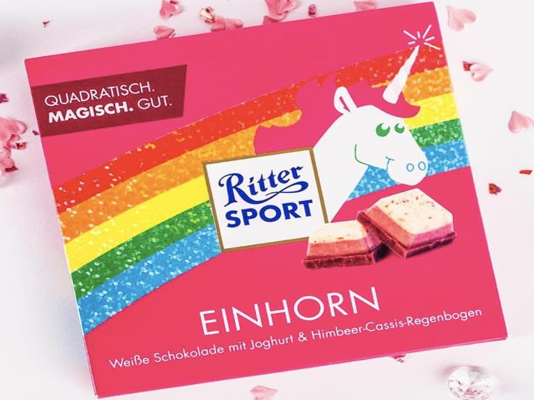 Ritter Sport cioccolato unicorno