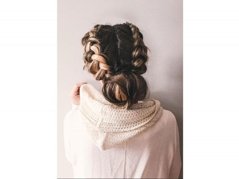capelli bun e trecce