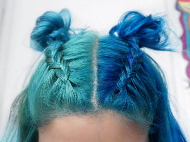 capelli double bun