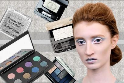 Trucco occhi bianco ghiaccio e argento: il make up nei colori della neve
