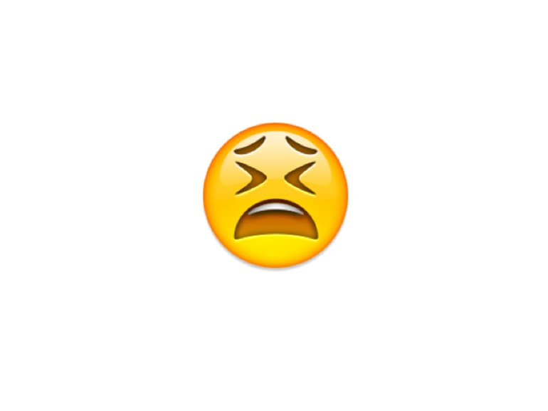 emoji faccia affranta