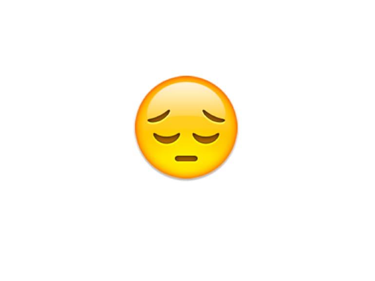 emoji faccia triste