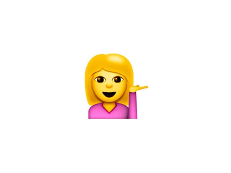 emoji ragazza saluto
