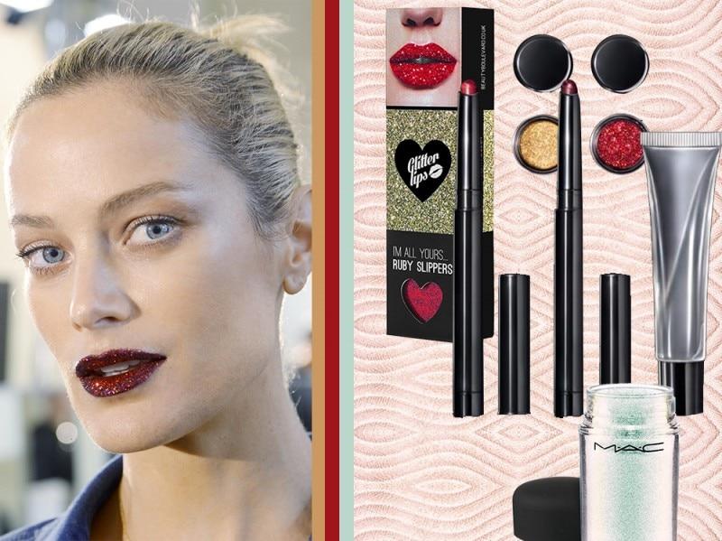 i 10 trend beauty più importanti del 2016 labbra glitter