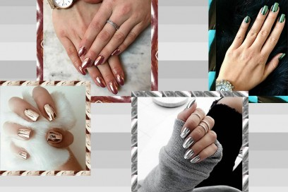 Nail art trend: Mirror Nails metalliche