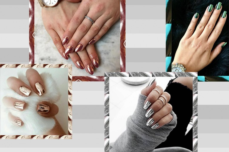 Nail art trend: Mirror Nails metalliche