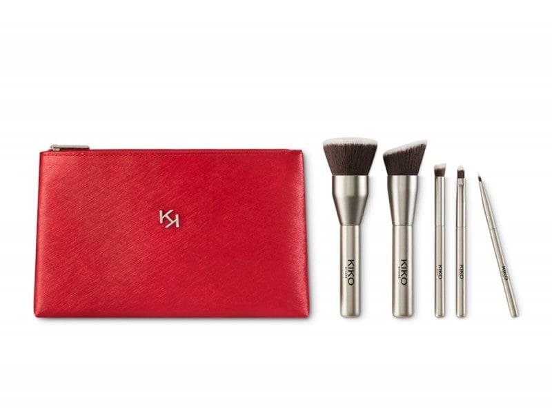 regali di natale dell'ultimo minuto set pennelli trucco kiko cosmetics