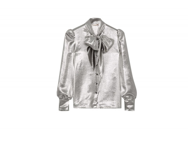 saint-laurent-camicia-argento