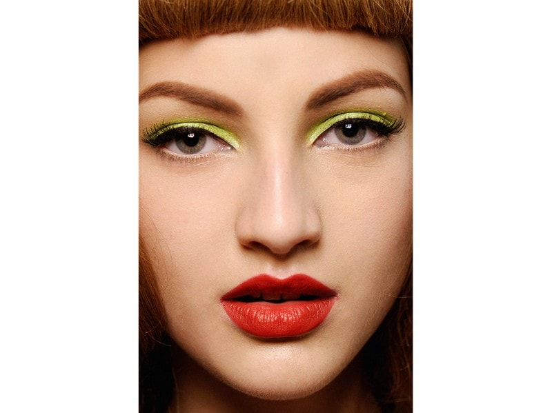 trucco greenery pantone make up (5)